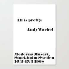 WARHOL All is pretty Canvas Print