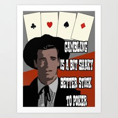 Poker Brothers - Breton Art Print
