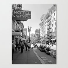 San Francisco - Black and White Canvas Print