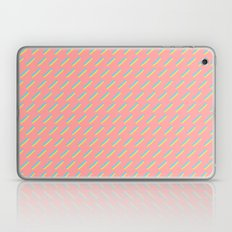 80's Pastel Stripes on Pink  /// www.pencilmeinstationery.com Laptop & iPad Skin