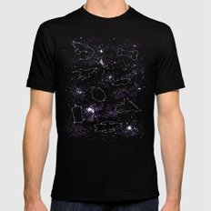 Star Ships Mens Fitted Tee Black SMALL