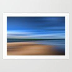 Beach Blur Painted Effect Art Print