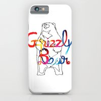 iPhone & iPod Case featuring Grizzly Bear by Denis Carrier
