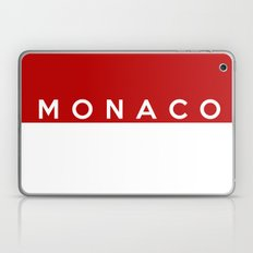 Monaco country flag name text Laptop & iPad Skin