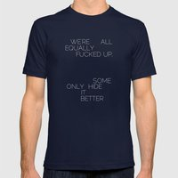 Equally Mens Fitted Tee Navy SMALL