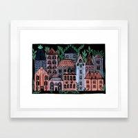 Little Street Framed Art Print