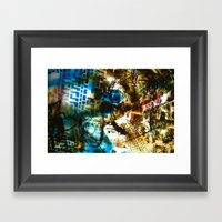 Retrollage 8.. Framed Art Print