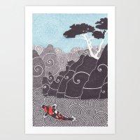 Asian Koi 1 Art Print