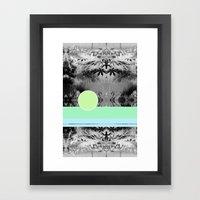 green circle Framed Art Print