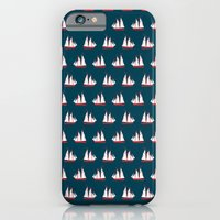 Sailing Ships On Navy Pa… iPhone 6 Slim Case