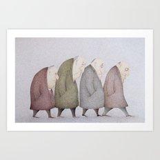 Grey Day  Art Print