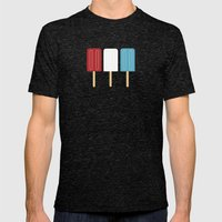 Americana Mens Fitted Tee Tri-Black SMALL