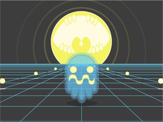 Pac-Monster Art Print