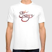 stay Mens Fitted Tee White SMALL