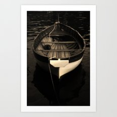 Boat of a Fisherman Art Print