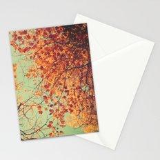 Autumn Inkblot - Yellow Stationery Cards