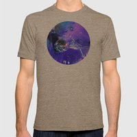 fresh water Mens Fitted Tee Tri-Coffee SMALL