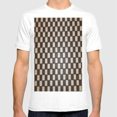 MEDITATION-SQUARE White SMALL Mens Fitted Tee