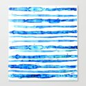 Blue Ink Stains Canvas Print