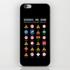 Goodbye, Mr. Bond iPhone & iPod Skin