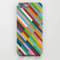 iPhone & iPod Case featuring Bricks Rotate 45 by Project M