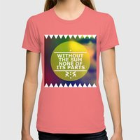 Sum And Parts Womens Fitted Tee Pomegranate SMALL