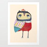 Sweet Owl Art Print