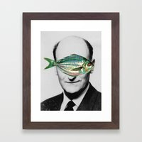 Fish face Framed Art Print