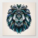 Blue Lion Canvas Print