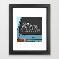 Honest Stick Figure Fami… Framed Art Print