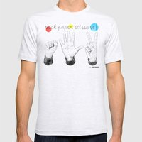 Rock Paper Scissors Mens Fitted Tee Ash Grey SMALL