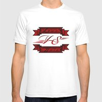Love VS Hate Mens Fitted Tee White SMALL
