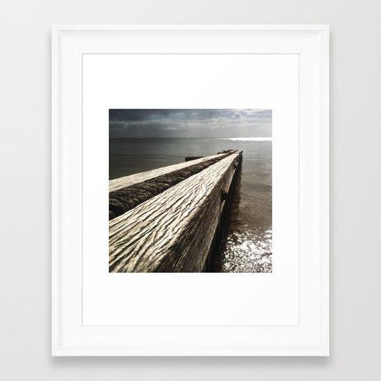 the break water 03 Framed Art Print