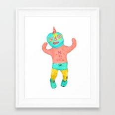 el gato Framed Art Print