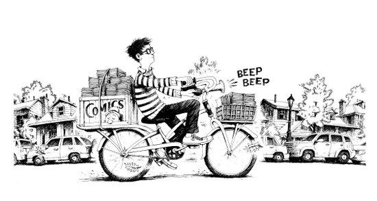 Comics Carrier Art Print