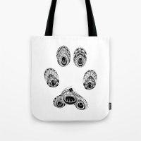 Cat Paw Print Tote Bag