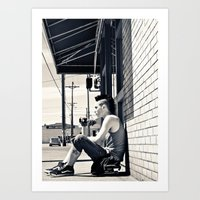 South Tacoma Skater  Art Print