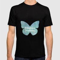 Kindness Matters Butterfly Expressions Mens Fitted Tee Black SMALL
