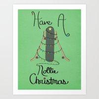 Nollie Christmas Art Print