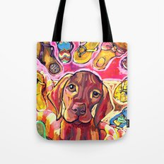 Dog with Shoes Tote Bag