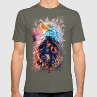 Jazzy Bald Eagle Colorful Bird Art by Jai Johnson Mens Fitted Tee Lieutenant SMALL