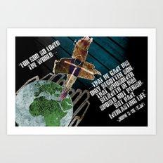 John 3:16 Art Print