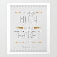 Thankful Art Print