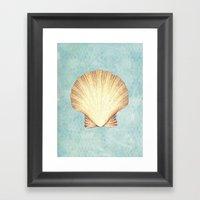 concha de mar Framed Art Print