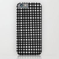 Black Gingham iPhone 6 Slim Case