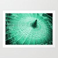 Jade Green Silk Chinese … Art Print