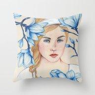 Porcelain Doll Throw Pillow