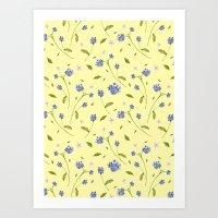 Botanical Print (Hound's Tongue)  Art Print