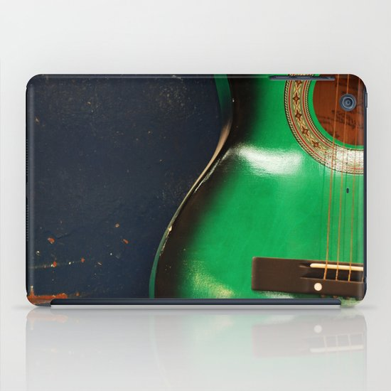 Green guitar iPad Case