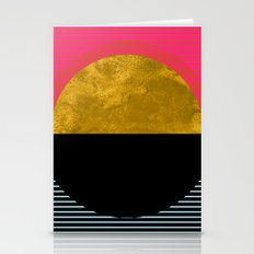 Abstract Sunset Stationery Cards